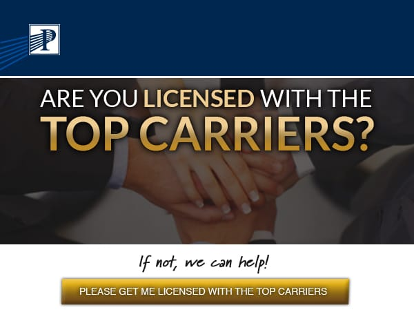 Premier Marketing® (Logo)  | Are you licensed with the top carriers? If not, we can help