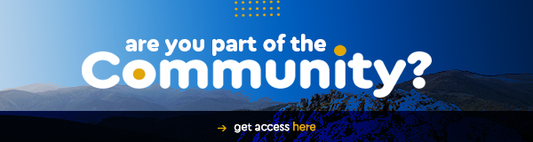 Are you part of the community? Get access here! (button)